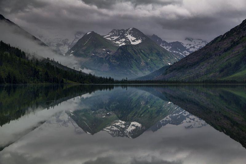 алтай, горный алтай, горы, озеро, отражение Безмолвие.photo preview