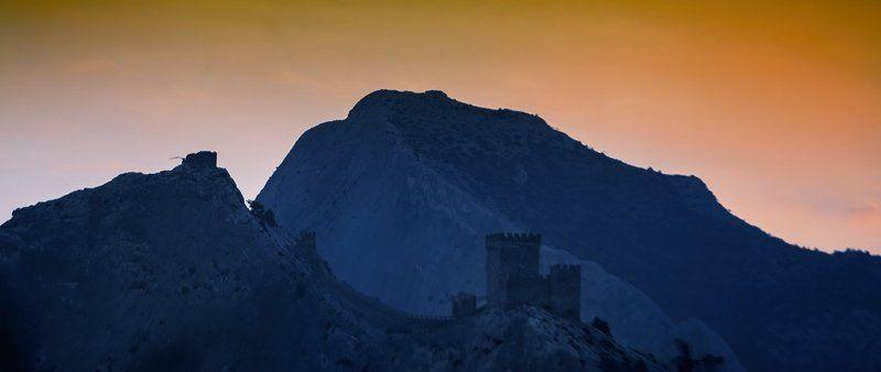 крым, судак, крепость, закат, горы Крепостные зарисовки...photo preview
