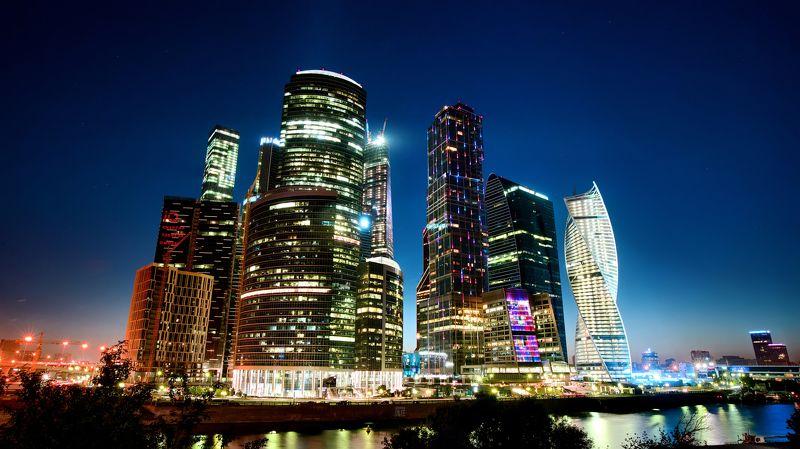 москва, город,  москва сити ночьphoto preview