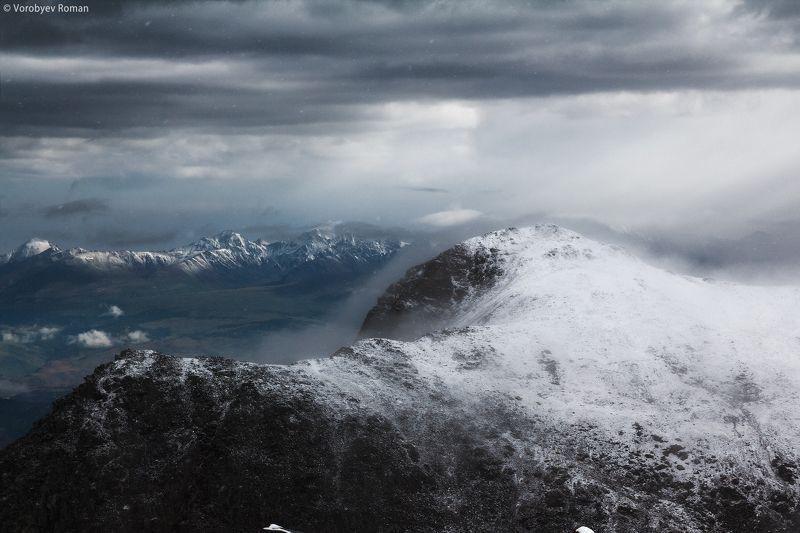 актру, алтай, горный алтай, горы, свет, снег Снежный июльphoto preview
