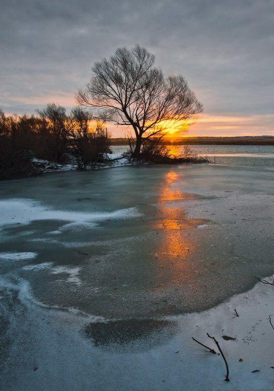 Озеро, Рассвет Первые лучи_4photo preview