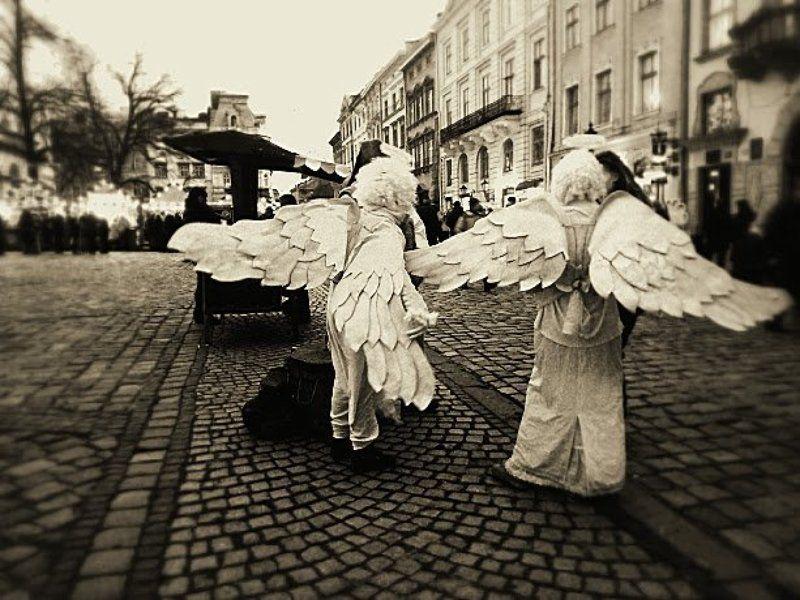 ангелы, репортаж, старый город, чудеса Ангелы в городе...photo preview