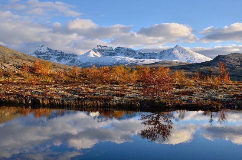 норвегия, горы, осень, снег, norway, autumn, mountain, snow Золото викинговphoto preview