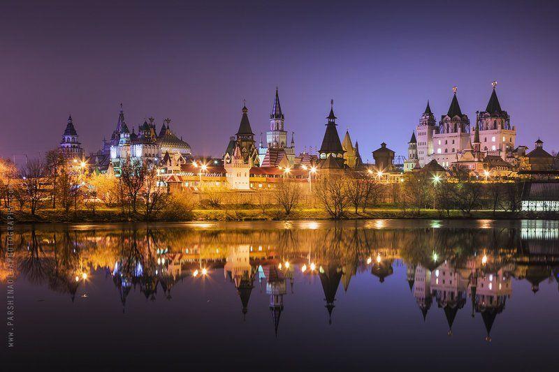 отражение, пейзаж, город, Кремль, Москва, ночь, городской пейзаж Ночные отраженияphoto preview
