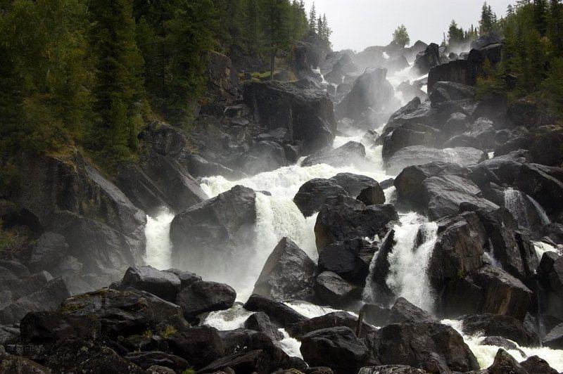 алтай, водопад, учар Неприступныйphoto preview