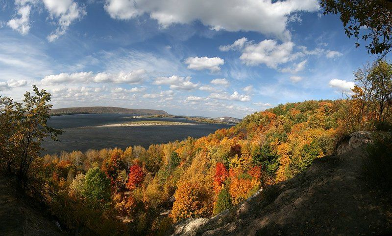 самарская лука, жигулёвские ворота, осень, лес, лысая гора Жигулёвские воротаphoto preview