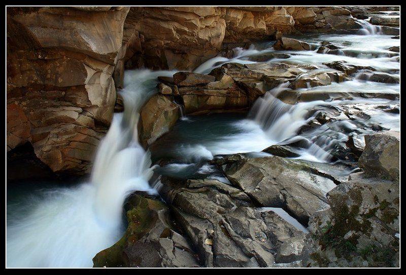 водопад, яремче, скалы, осень Водопадphoto preview