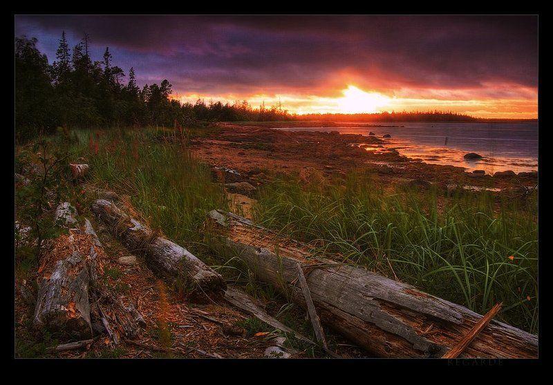 карелия, белое море, закат restesphoto preview