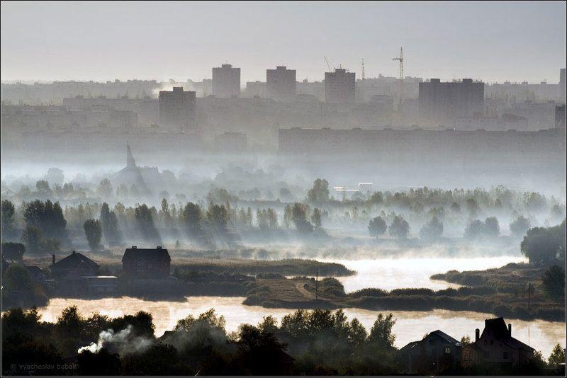 туман, город, утро Как-то утречком...photo preview