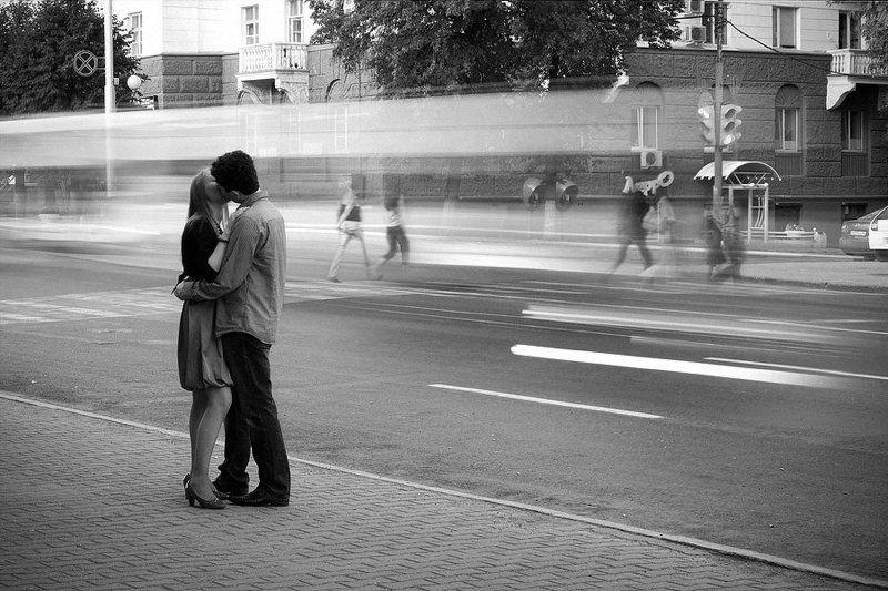 поцелуй, скорость, город, осень, faniz Осень. пора любвиphoto preview