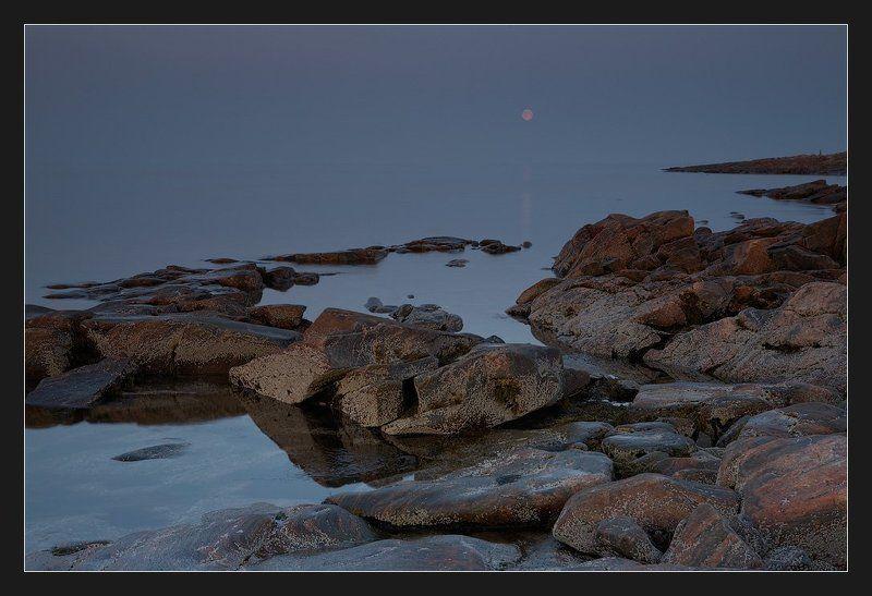 белое море, луна Вечер на Белом мореphoto preview