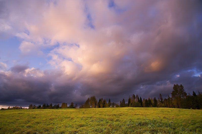 осень,природа,облака,небо,поля Гуляли в поле облакаphoto preview
