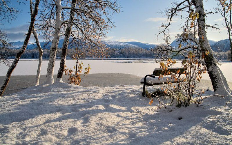 норвегия, озеро, norway,снег,зима 2009. Снег.photo preview