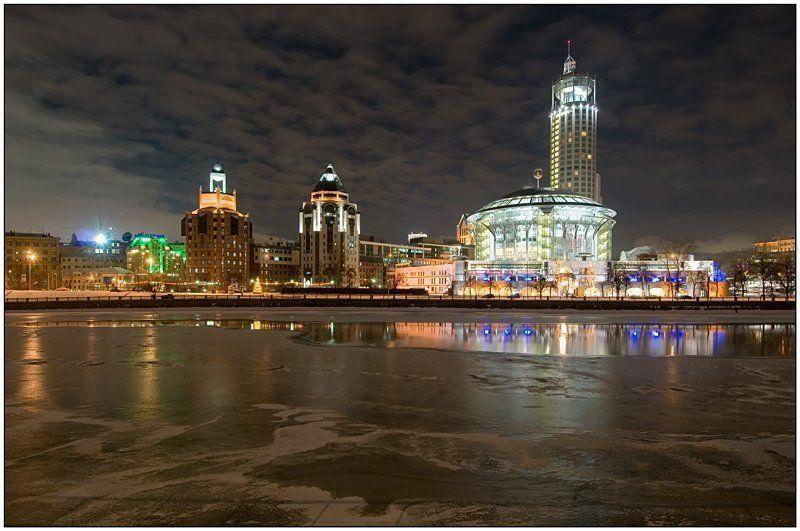 москва, зима, вечер, вода Прогулки по Москвеphoto preview
