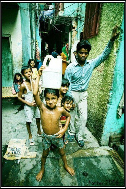 азия, индия, нью дели, дети, счастье, бедность, нищета, улюбка photo preview