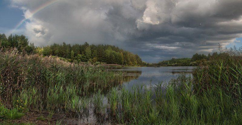 бугрово, псковская область, август Капризный закатphoto preview
