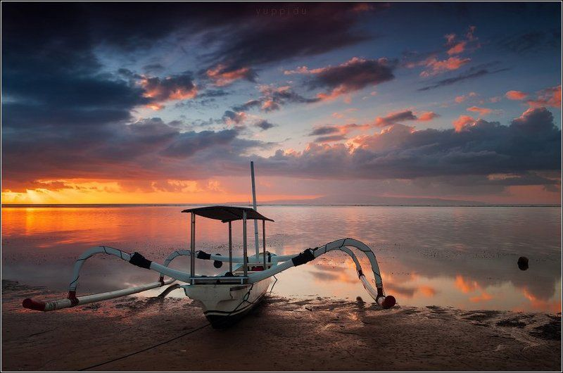 Bali, Boat, Sanur, Sunrise Рассвет в Сануреphoto preview