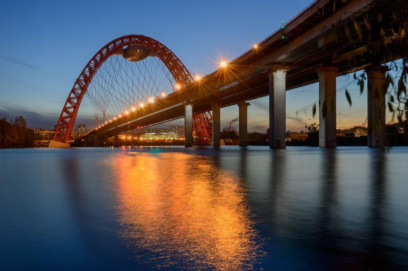 Architecture, Bridge, Moscow, Архитектура, Москва, Мосты, Отражения Живописный мостphoto preview