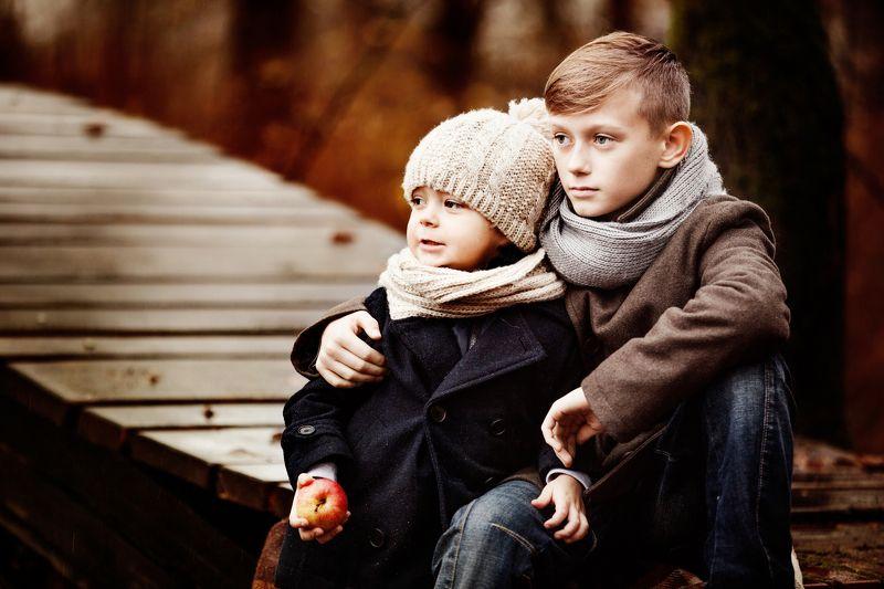 портрет,дети,осень ***photo preview