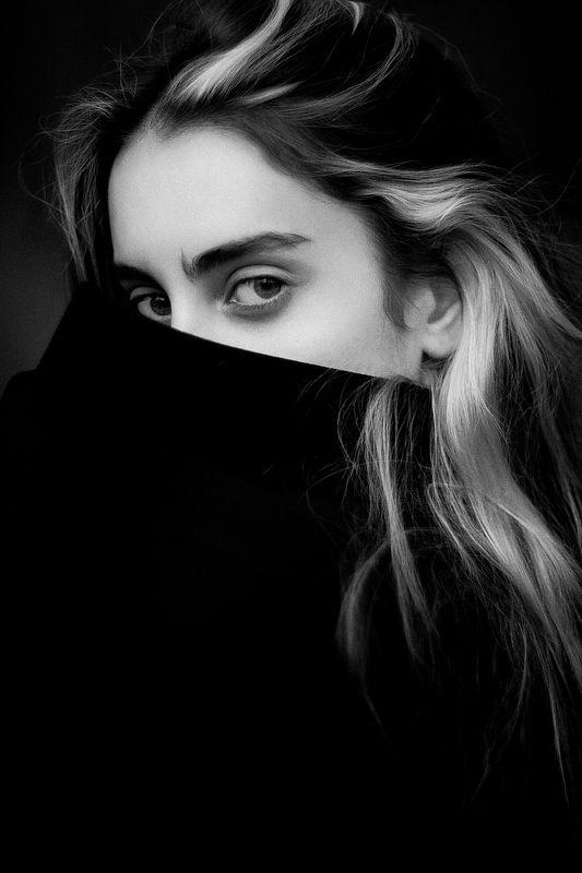 Портрет, Портрет девушки, Ч/б, Черно-белое Nellyphoto preview