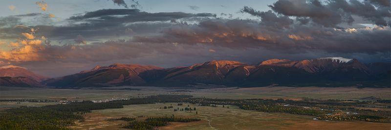 алтай, курай, межгорная котловина, вечер, облака, закат Курайский вечер с видом на востокphoto preview