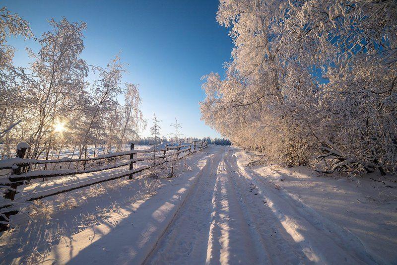 Якутия зима Зимняя дорогаphoto preview
