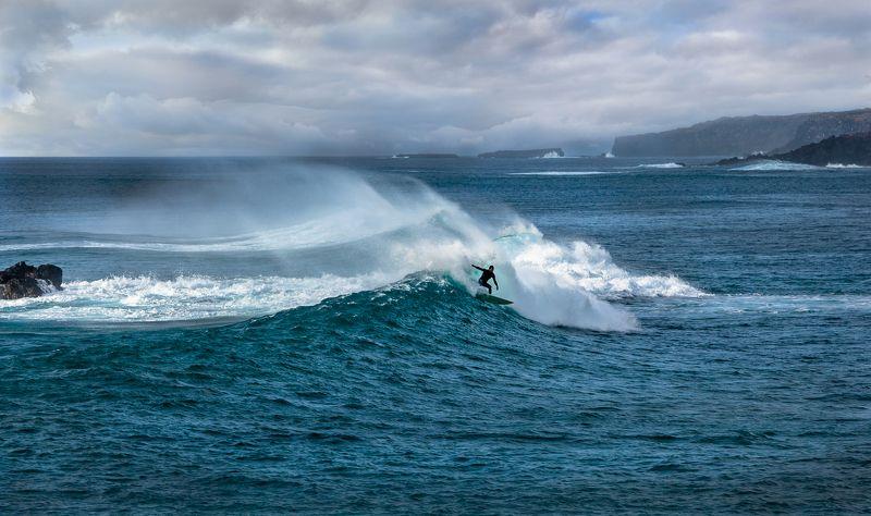 серфинг, волны, океан, Остров Пасхи На гребне волныphoto preview