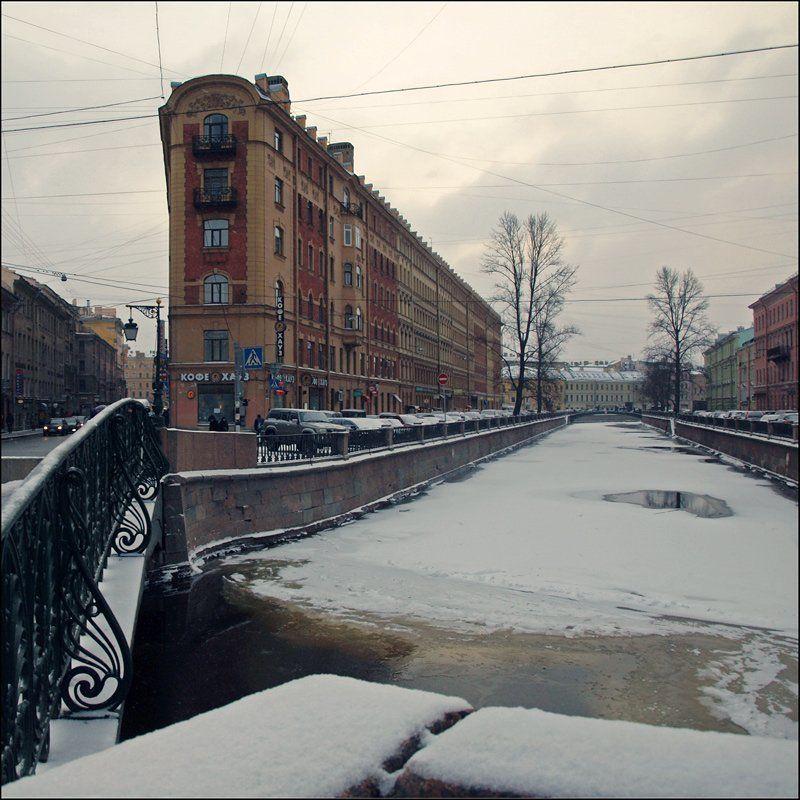 Город, Городской пейзаж, Канал грибоедова, Санкт-петербург Начало зимы на канале Грибоедоваphoto preview