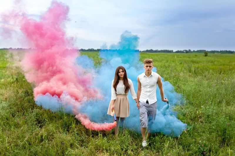 smoke, girl, boy, woman, man, nature, color, love, story, wood, forest, field smokephoto preview