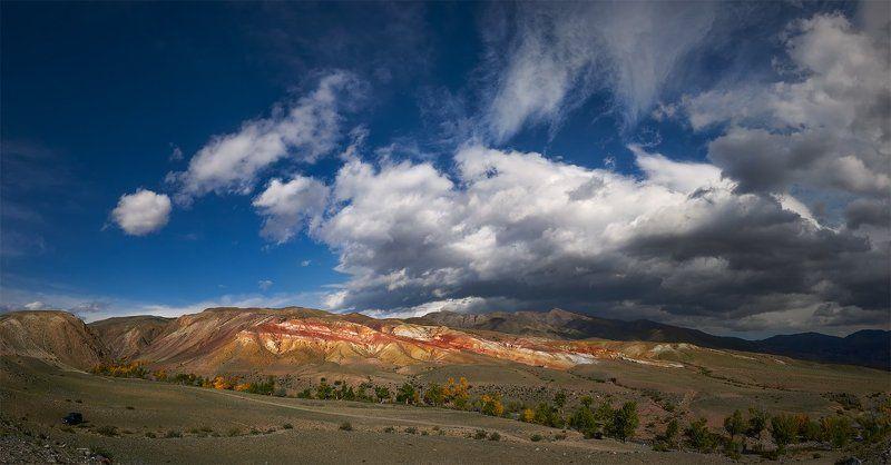 алтай, чуйская котловина, кызылчин, аридный ландшафт, облака Атмосферные явленияphoto preview