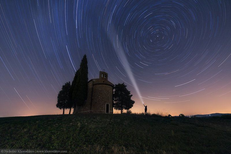 Italy, Nightscapes, Tuscany, Звезды, Италия, Ночная съемка, Тоскана К звездам!photo preview