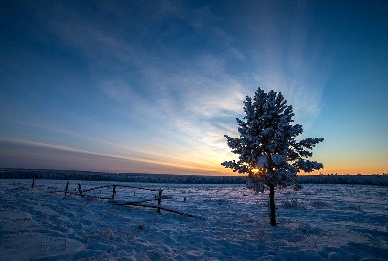 Зимний закатphoto preview