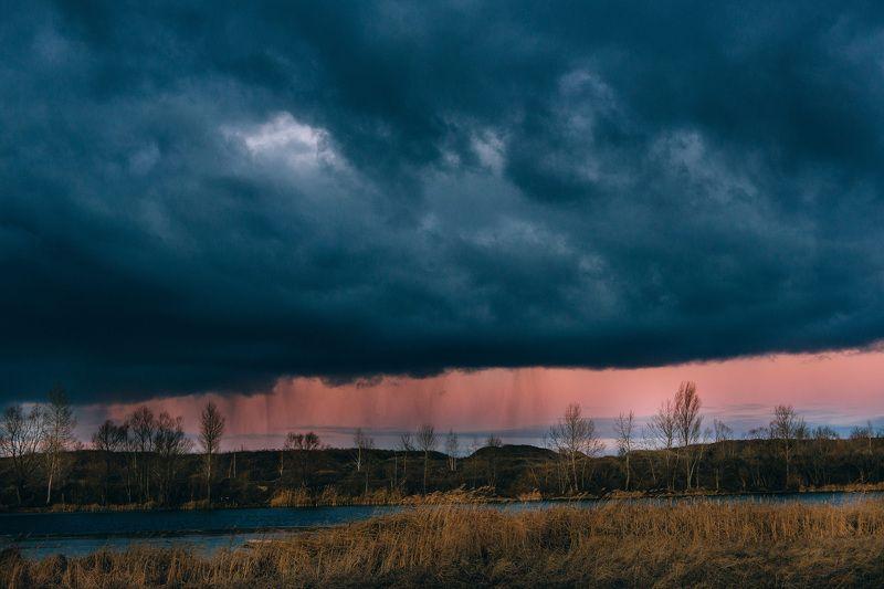 Закат сквозь дождьphoto preview