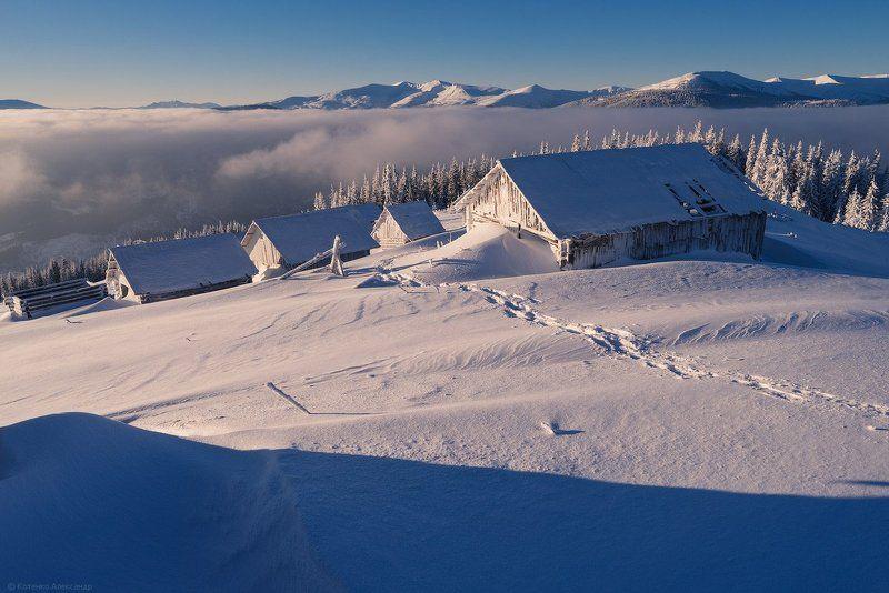 горы, карпаты, зима ***photo preview