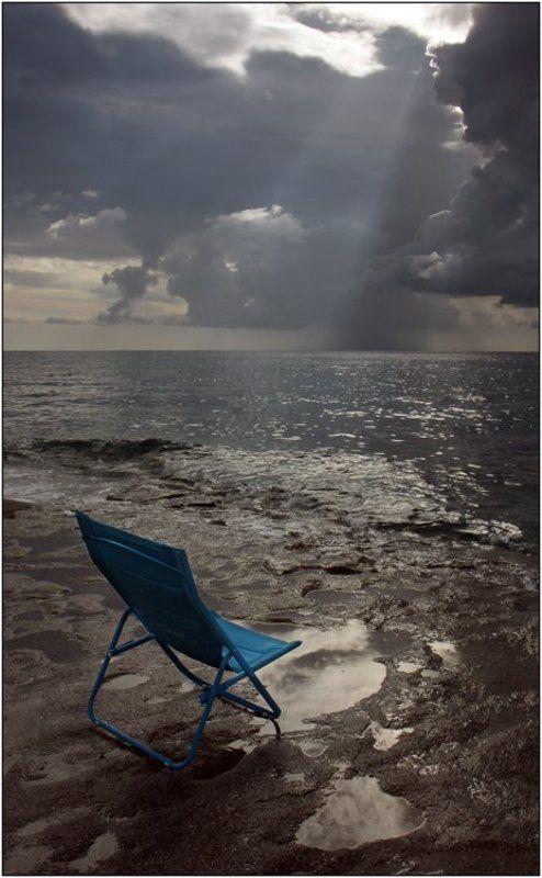 море, луч, солнца, берег, небо ...photo preview