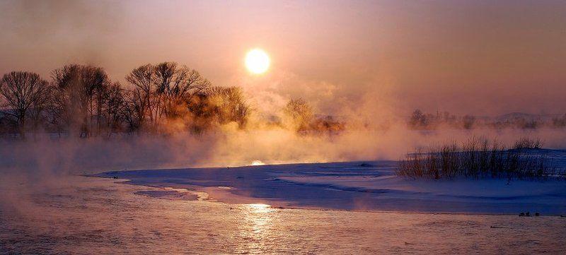 иртыш, зима,закат Зимний вечерphoto preview
