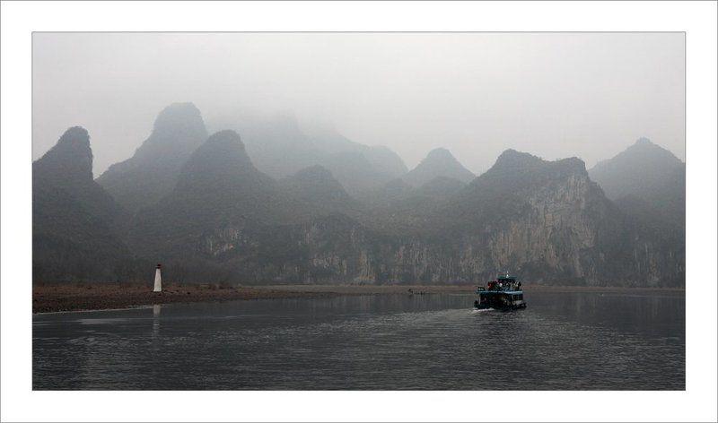 туман на реке Лицзянphoto preview