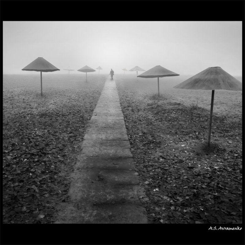 осень, туман, пляж Путь в никуда…photo preview