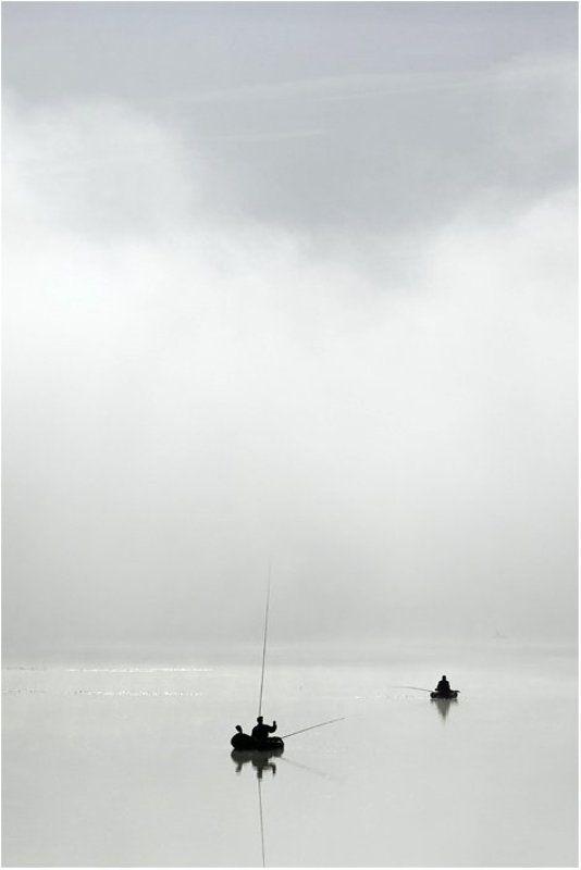рыбаки,туман,лодки ***photo preview