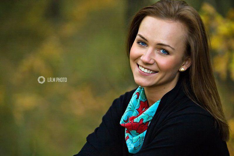 девушка, портрет Осенний портретphoto preview