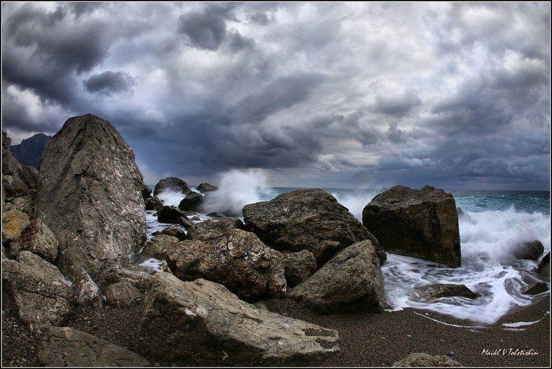 море, камни, волны, небо море волнуется...photo preview
