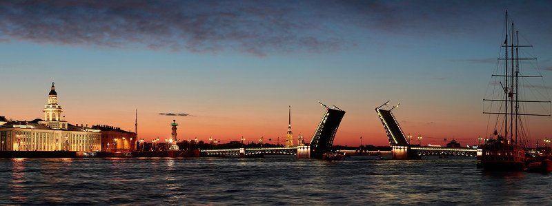 город, санкт-петербург, ночь, нева Классикаphoto preview