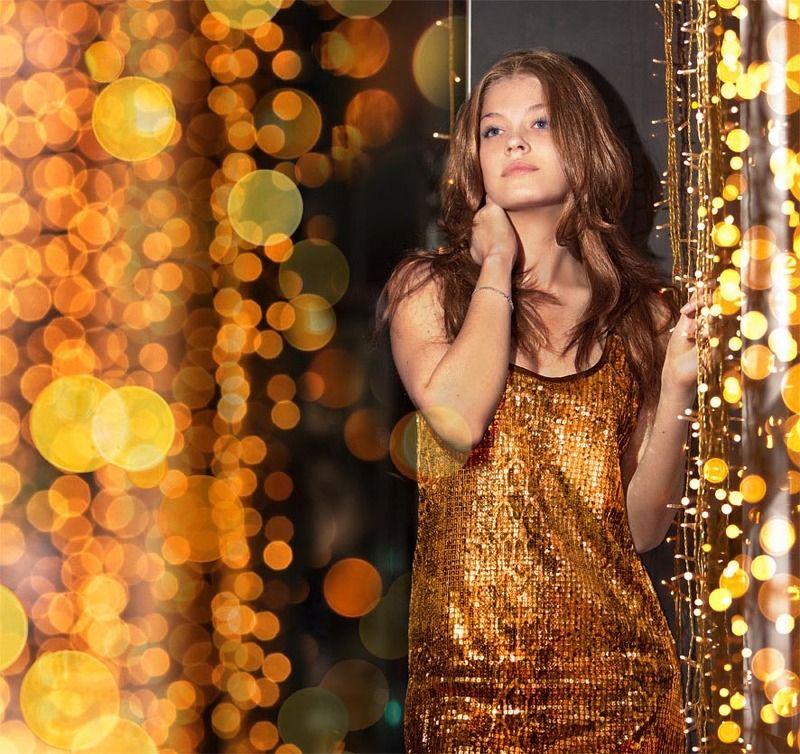 огоньки, золото, яна Золотаяphoto preview