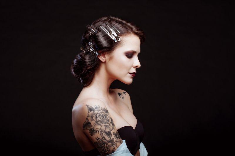 beautiful, beauty, black, eyes, face, girl, hair, model, studio Beautifulphoto preview