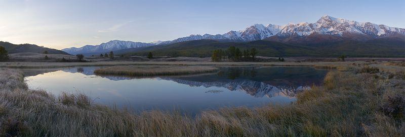 алтай, ештыкель, куркурек, болото, иней, отражение, рассвет Скоро восходphoto preview