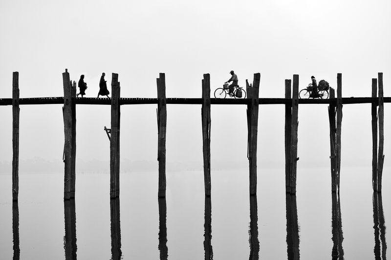 Built Structure Burma (Myanmar), Mandalay, Armarapura, U Bein bridgephoto preview