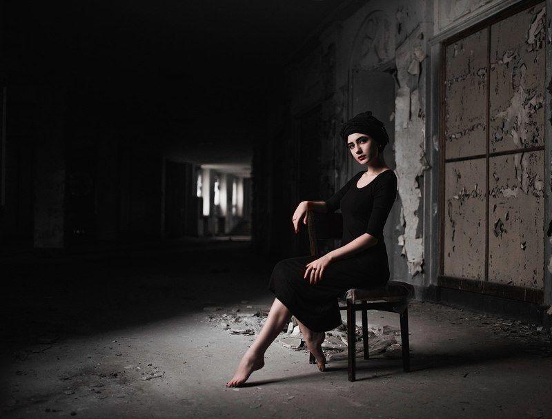 #девушка  #black #contrast ...photo preview