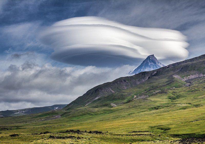 Вулкан, Камень, Камчатка, Лентикулярное, Облако Облакоphoto preview