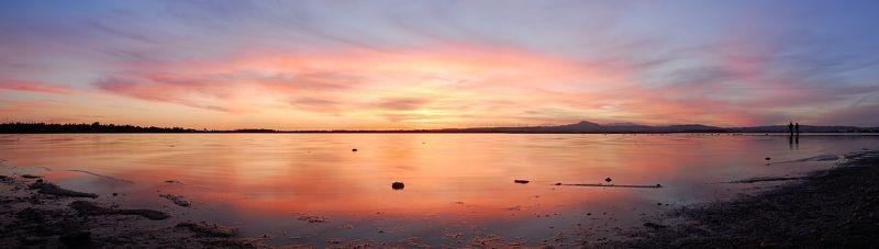 Соленое озеро Алики. Панорама из 5 горизонтальных кадров.photo preview