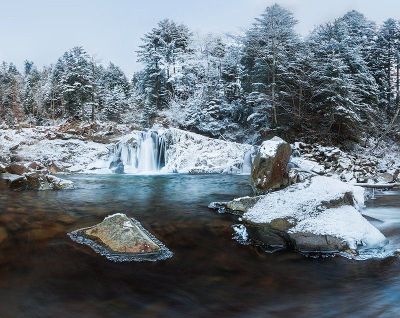 canon, canon70d, 70d, landscape, пейзаж, природа, водопад Зимнее photo preview